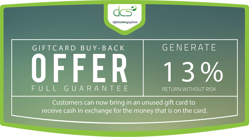 Giftcard Buy Back Header
